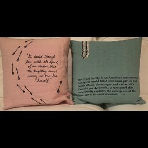 kate spade Other - Kate Spade emma and great gatsby pillows